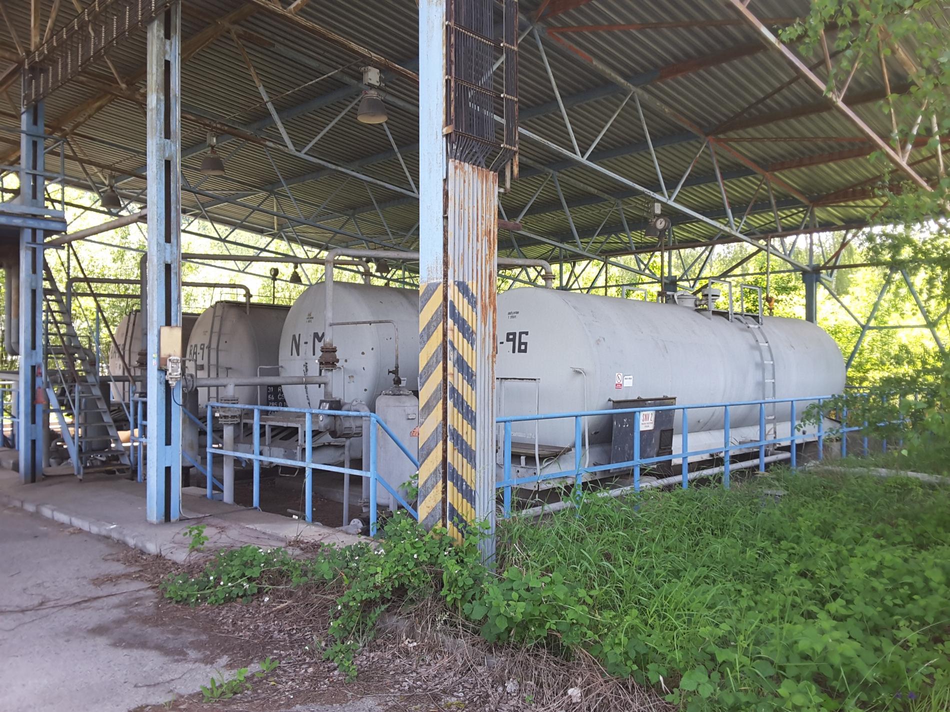 Areál přečerpávací a čerpací stanice Mírovka