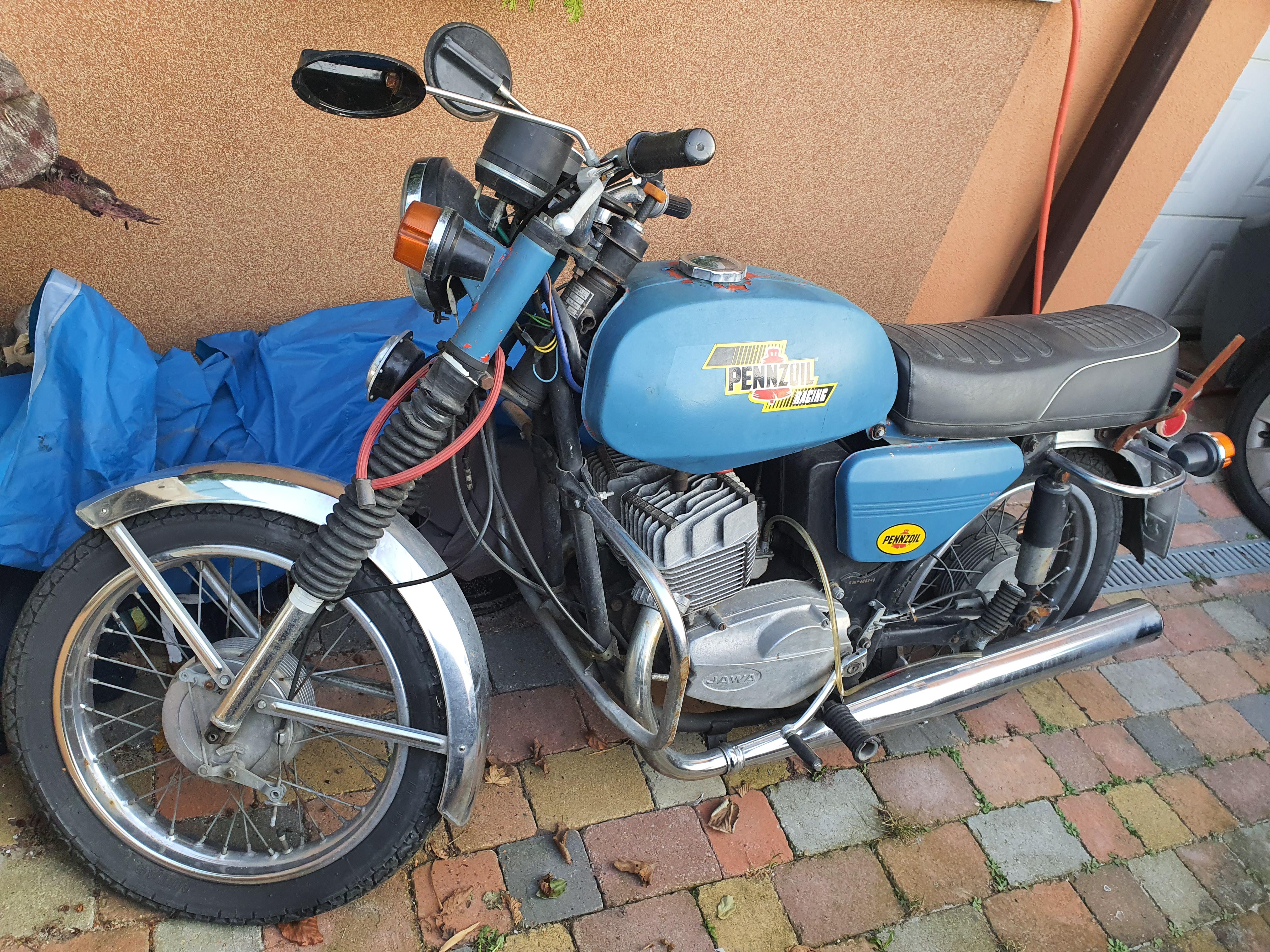 Motocykl Jawa + tiskárna